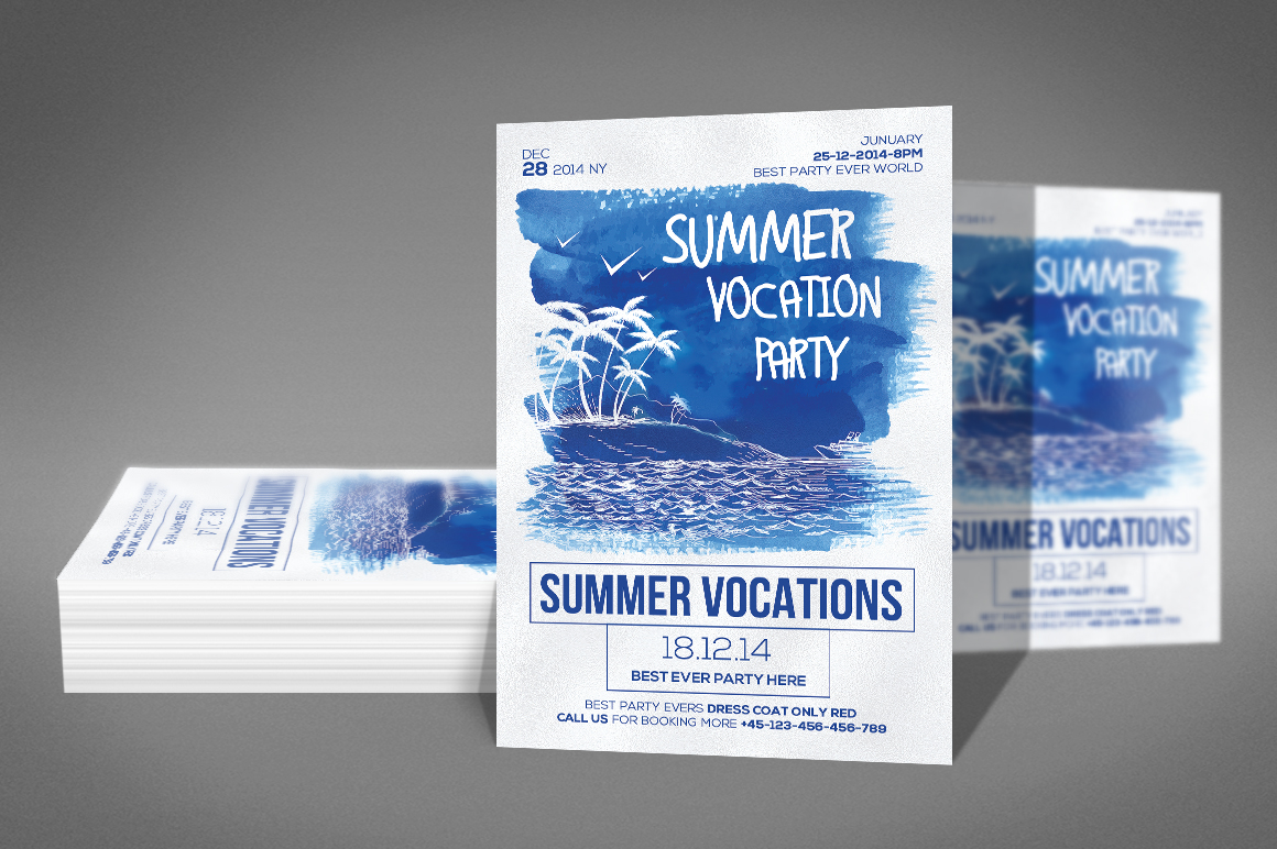 Summer Vocation Party Flyer example image 2