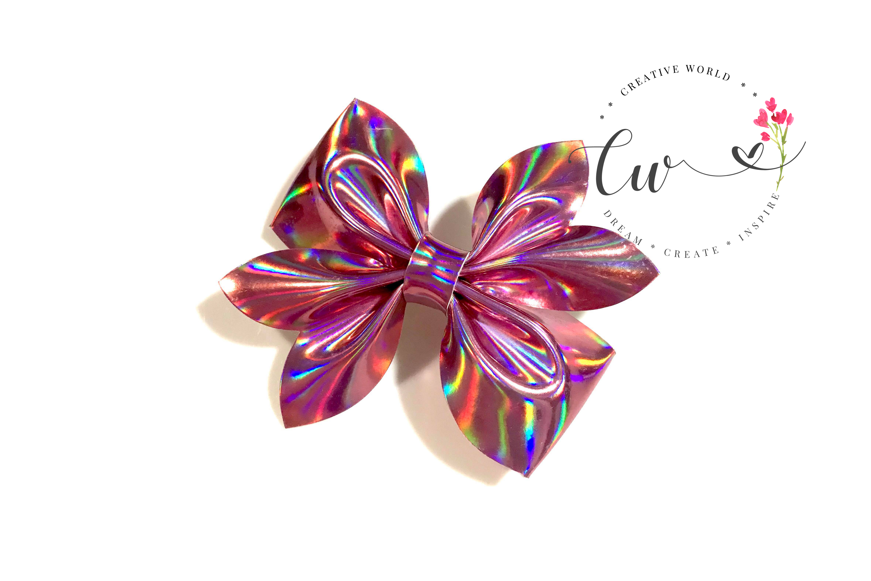 New Classic Pinch Hair Bow Digital Template |Bow Template example image 2