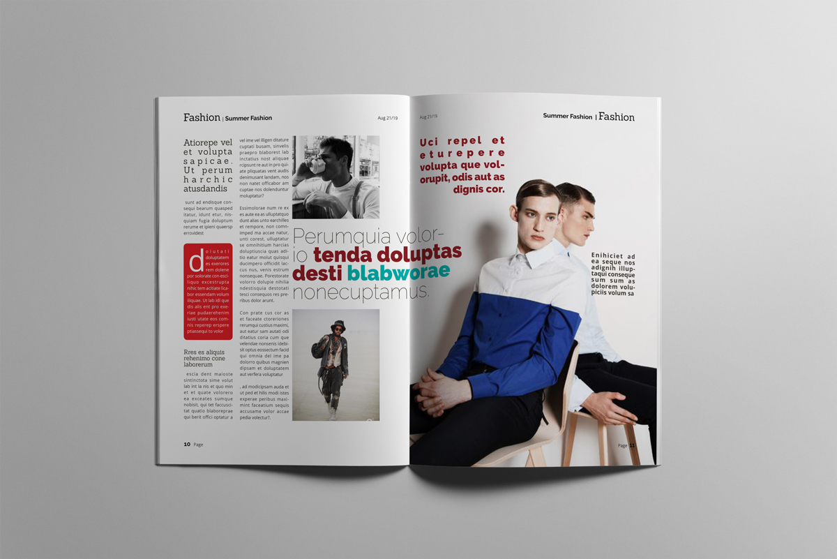 Magazine layout design example image 6