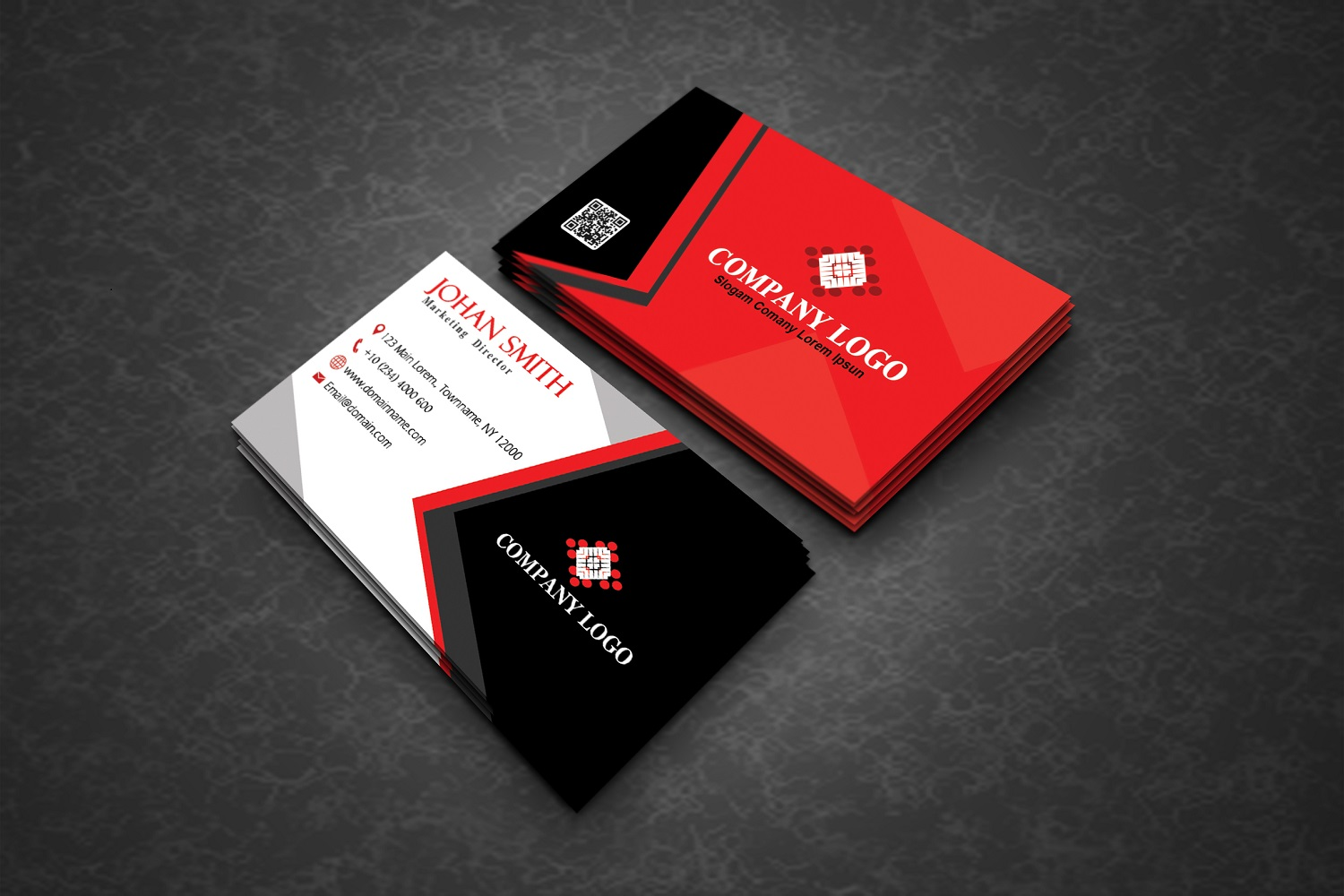 Modern Corporate Business Cards example image 2