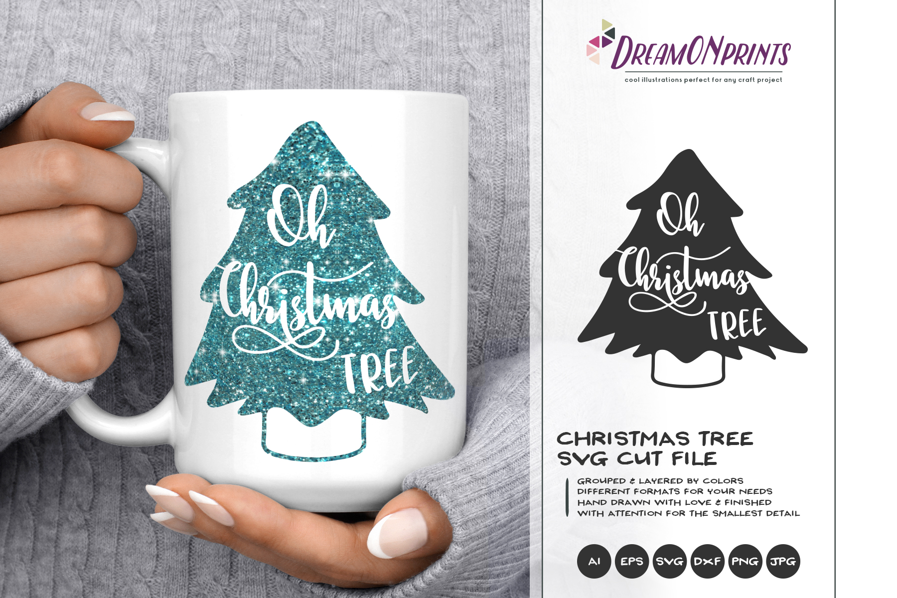 Oh Christmas Tree SVG  Christmas SVG Cut Files example image 1