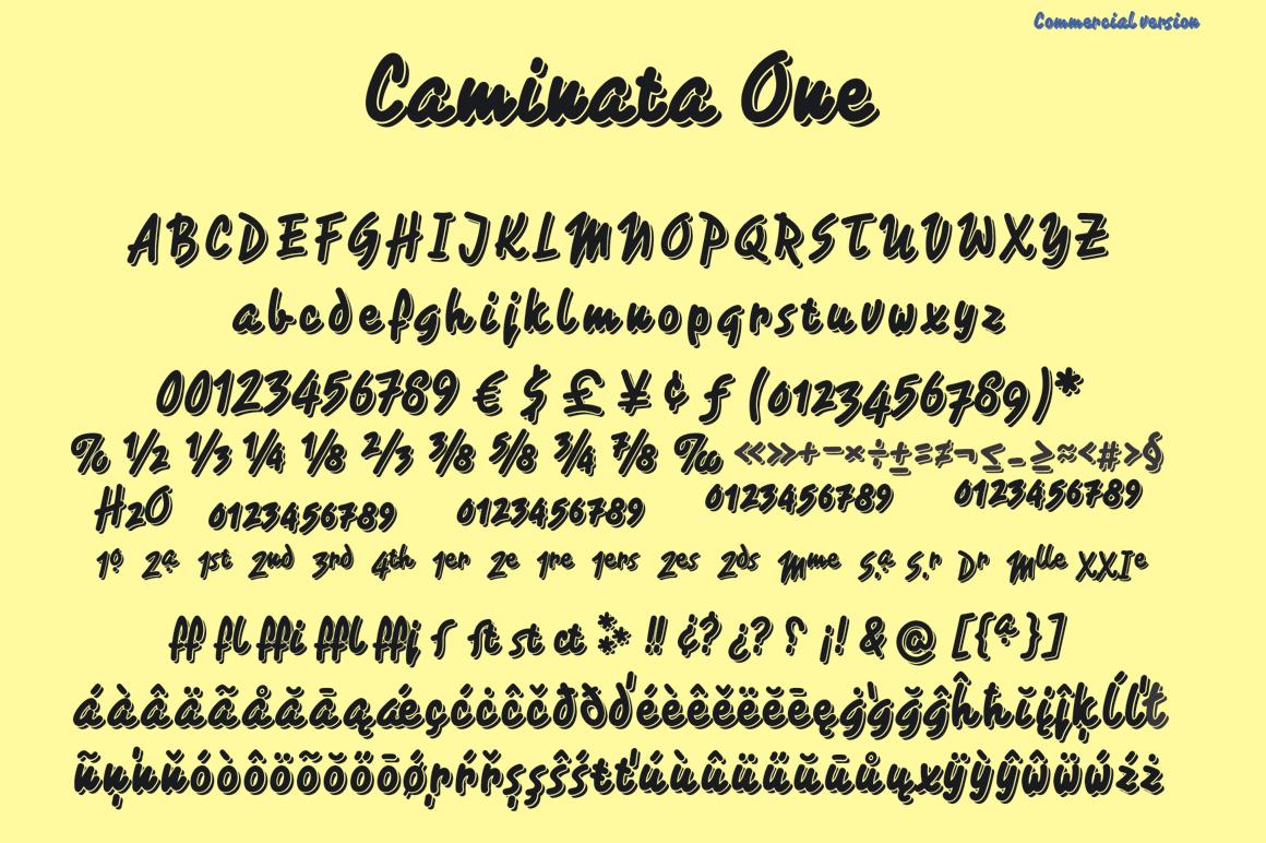 Caminata fonts example image 5