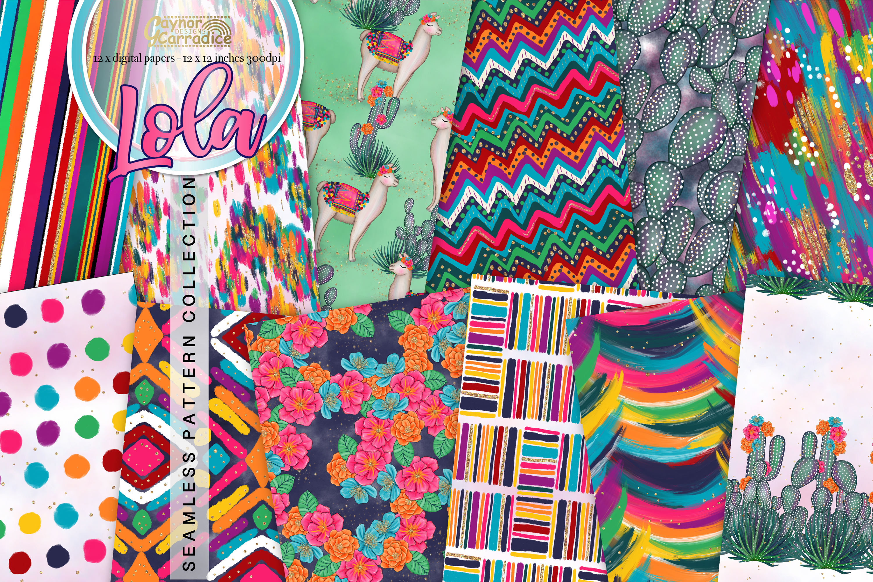 Lola - Mecian cinco de mayo Seamless Pattern collection example image 1