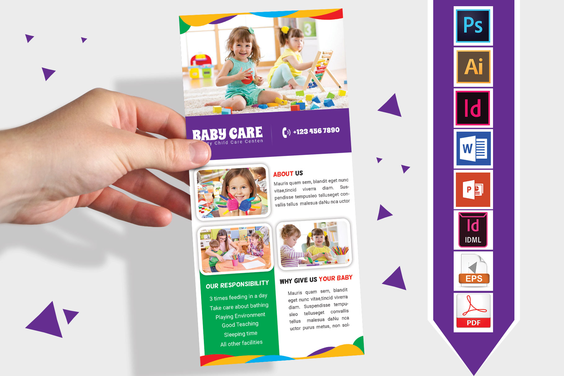 Rack Card | Baby Care DL Flyer Vol-02 example image 1