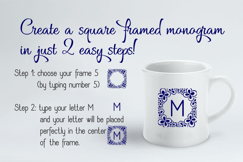 Square Monogram Framer example image 2