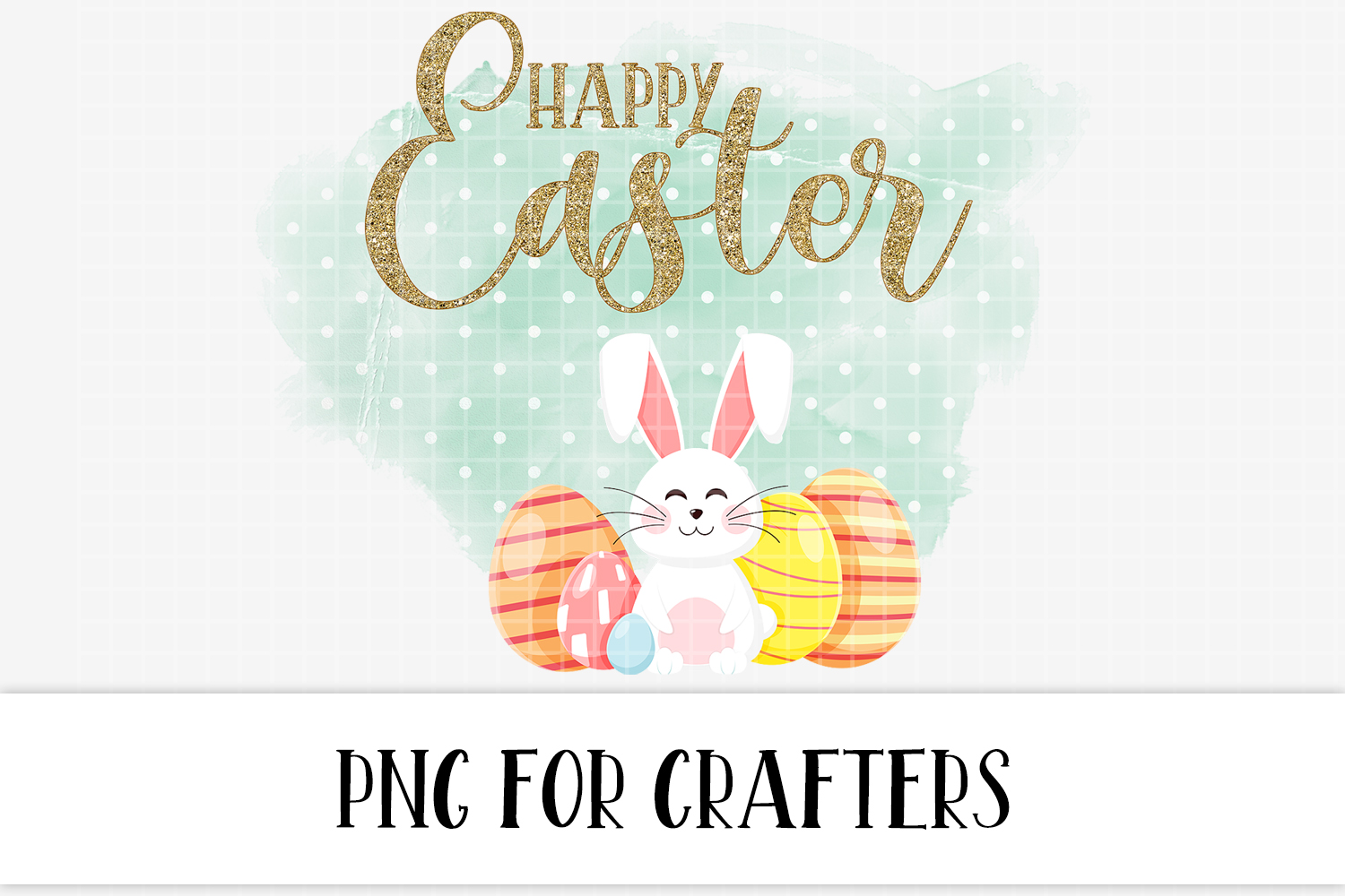 Happy Easter Sublimation Digital Download example image 2
