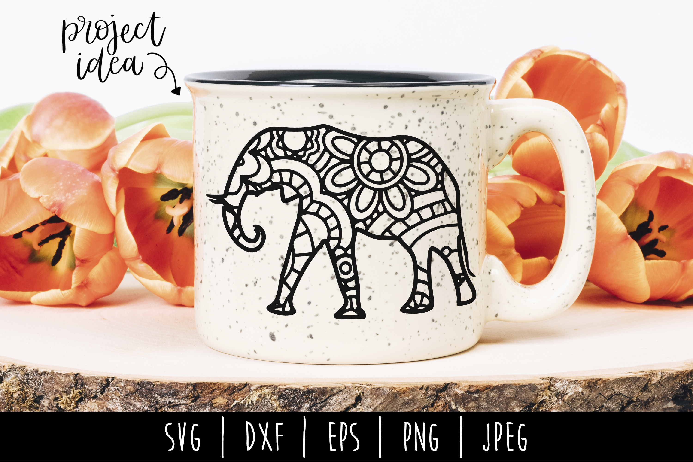 Elephant Mandala Zentangle Bundle Set of 4 - SVG example image 6