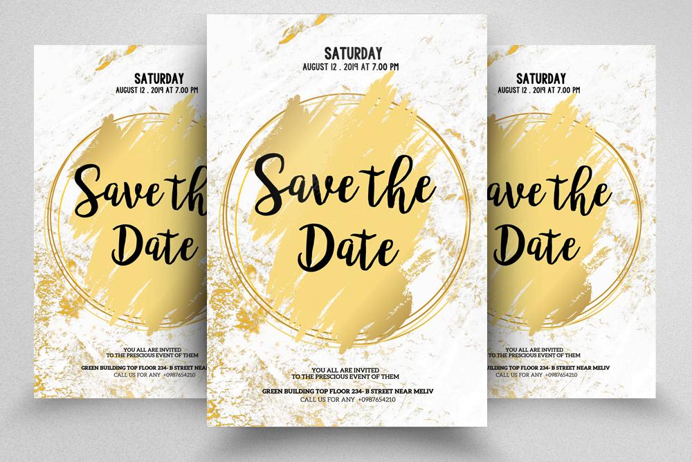 10 Wedding Invitation Flyer Bundle example image 3