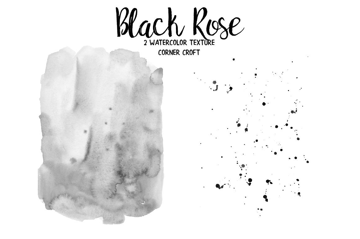 Watercolor Black Rose Clip Art example image 6