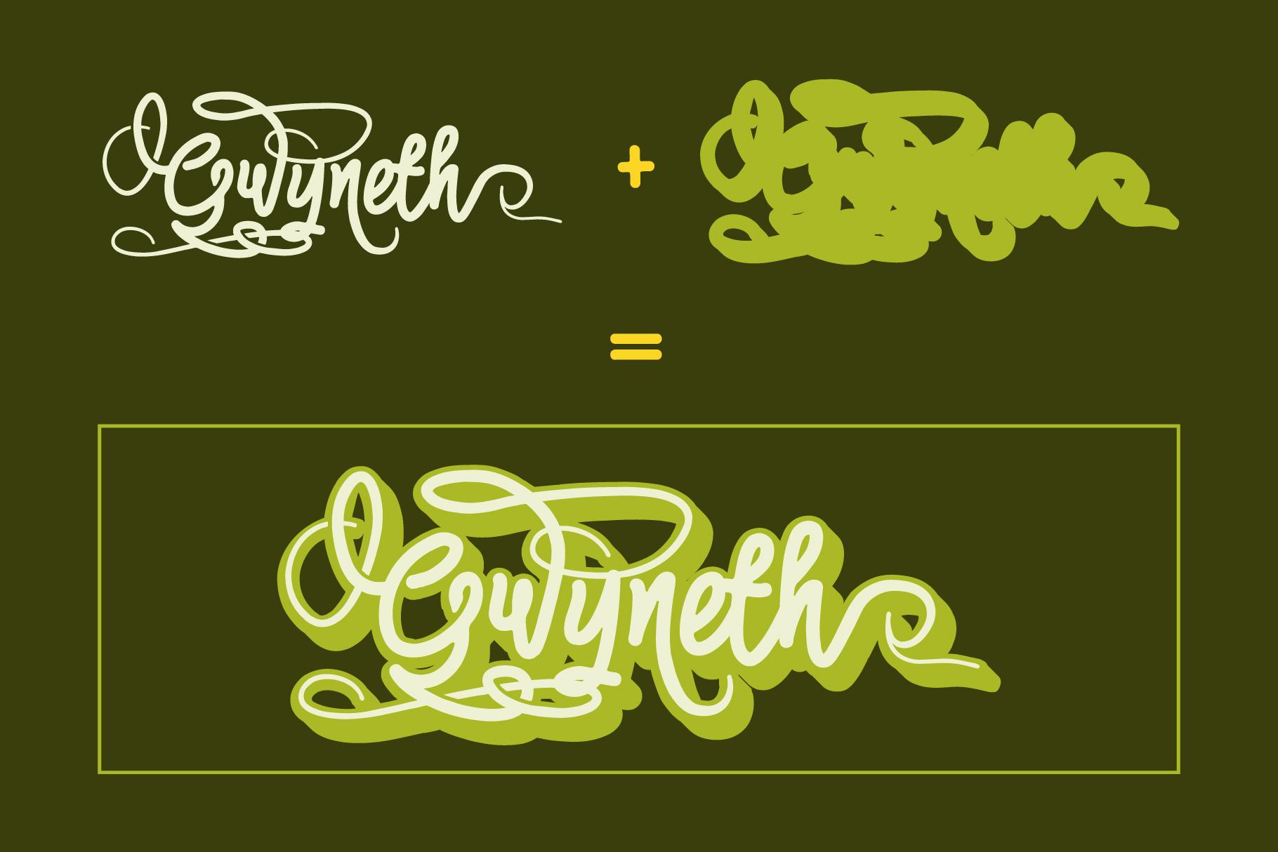 Gwyneth | modern script layered example image 4