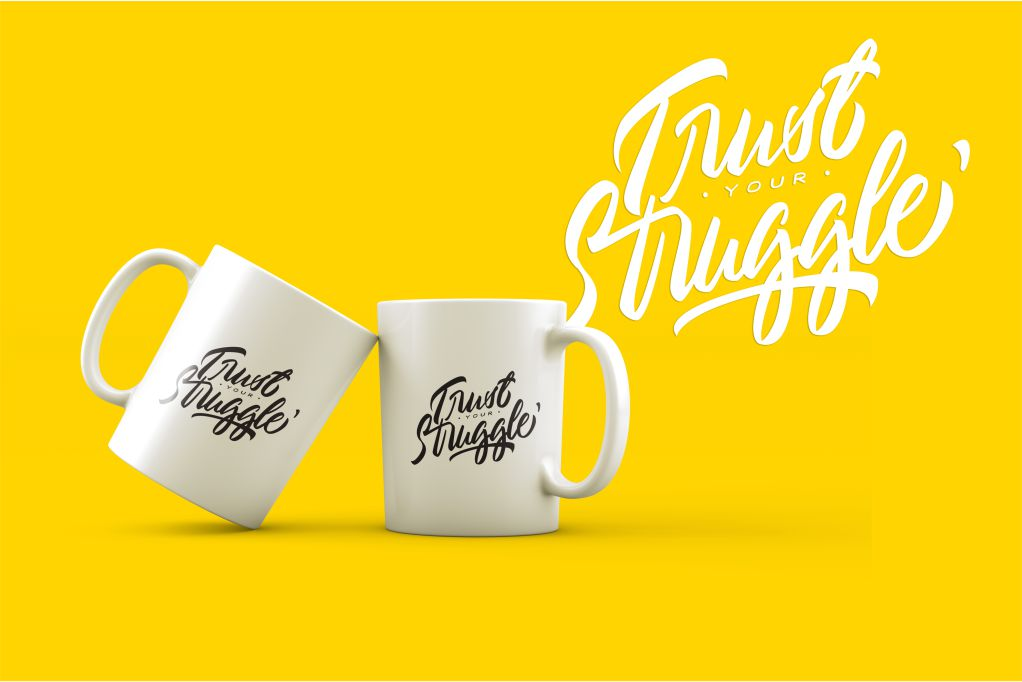 Typography//Trust Your Struggle SVG/PNG example image 3