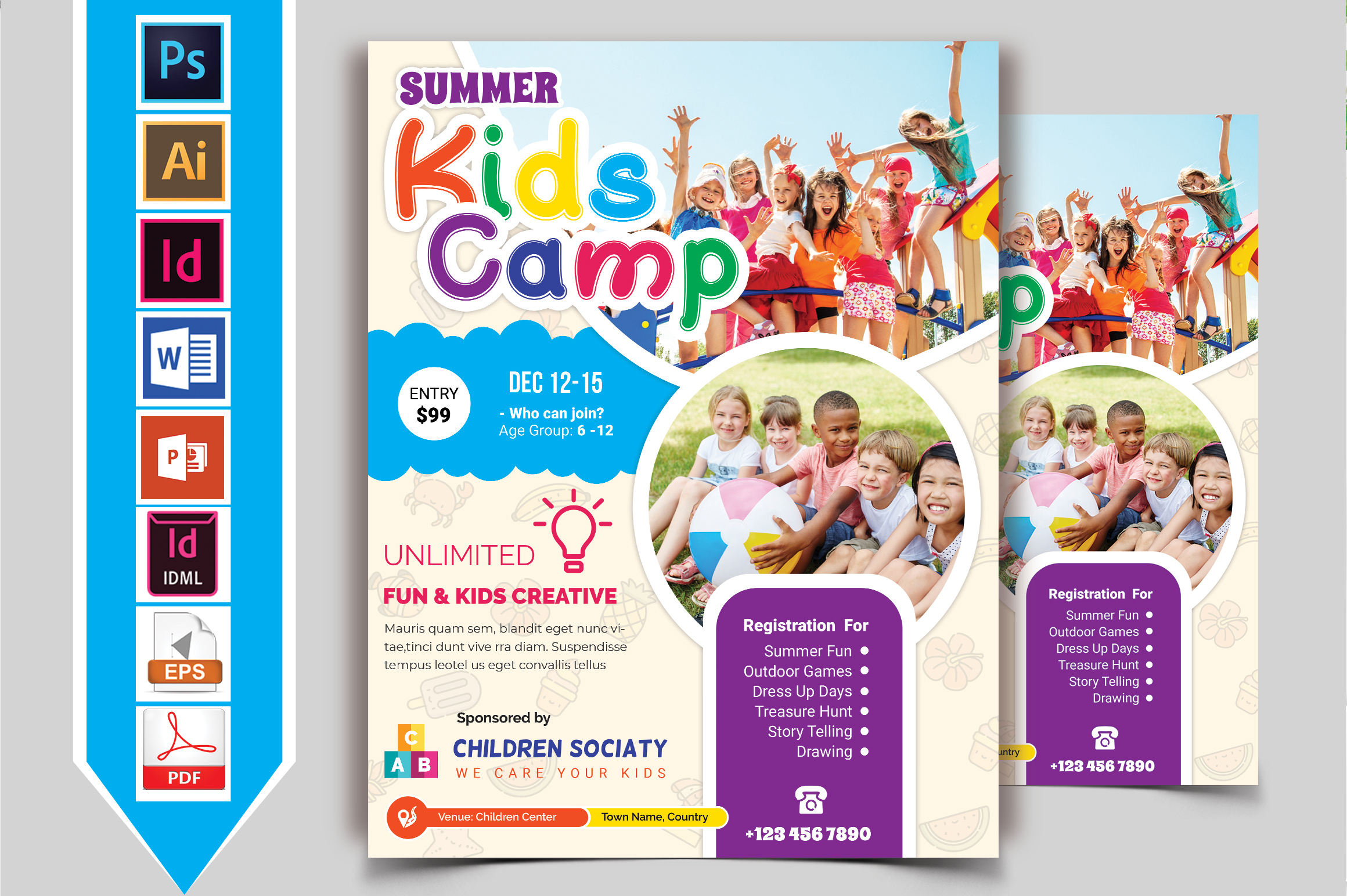 Kids Summer Camp Flyer Vol-09 example image 2