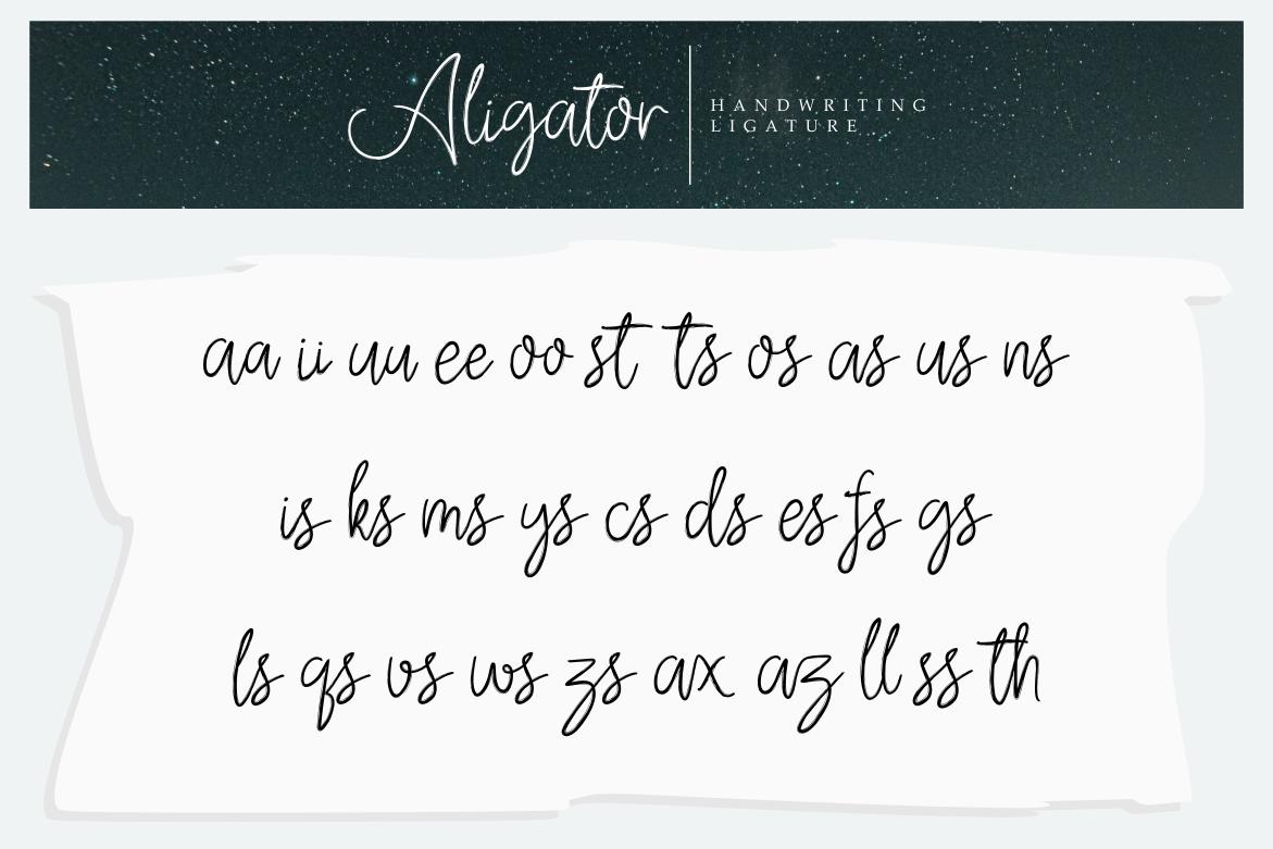 Aligator Signature Font example image 8