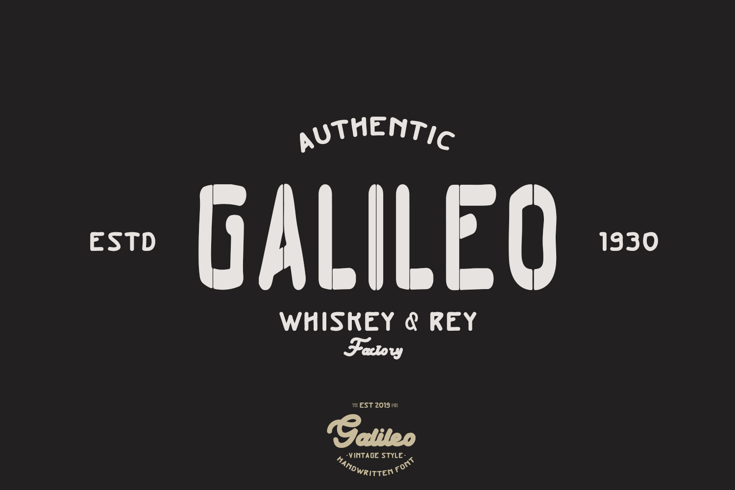 Galileo - Vintage Style - Font Duo example image 3