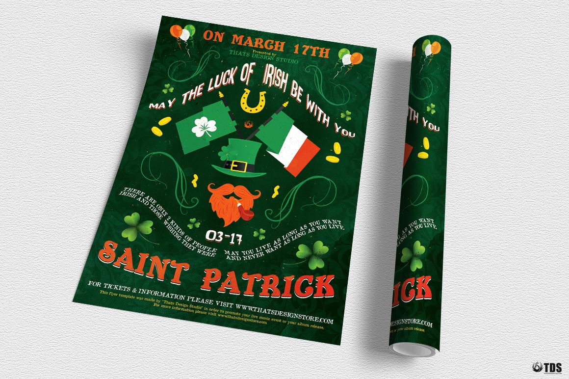Saint Patricks Day Flyer Template V4 example image 3