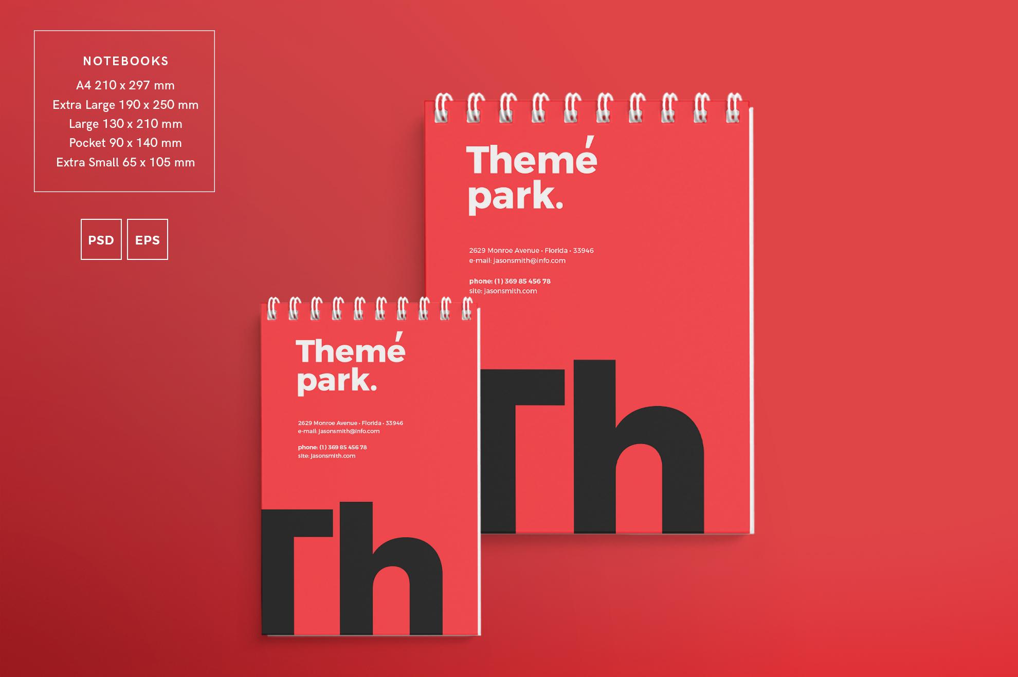 Theme Park Party Entertainment Design Templates Bundle example image 7