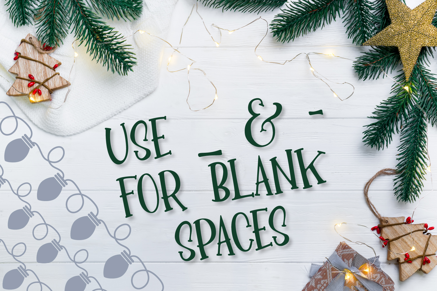 YULE - Christmas Lights Font  example image 4