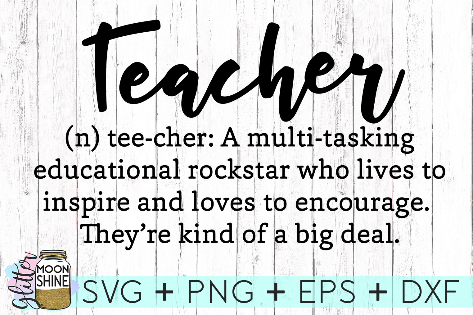 Teacher Definition SVG DXF PNG EPS Cutting Files example image 1