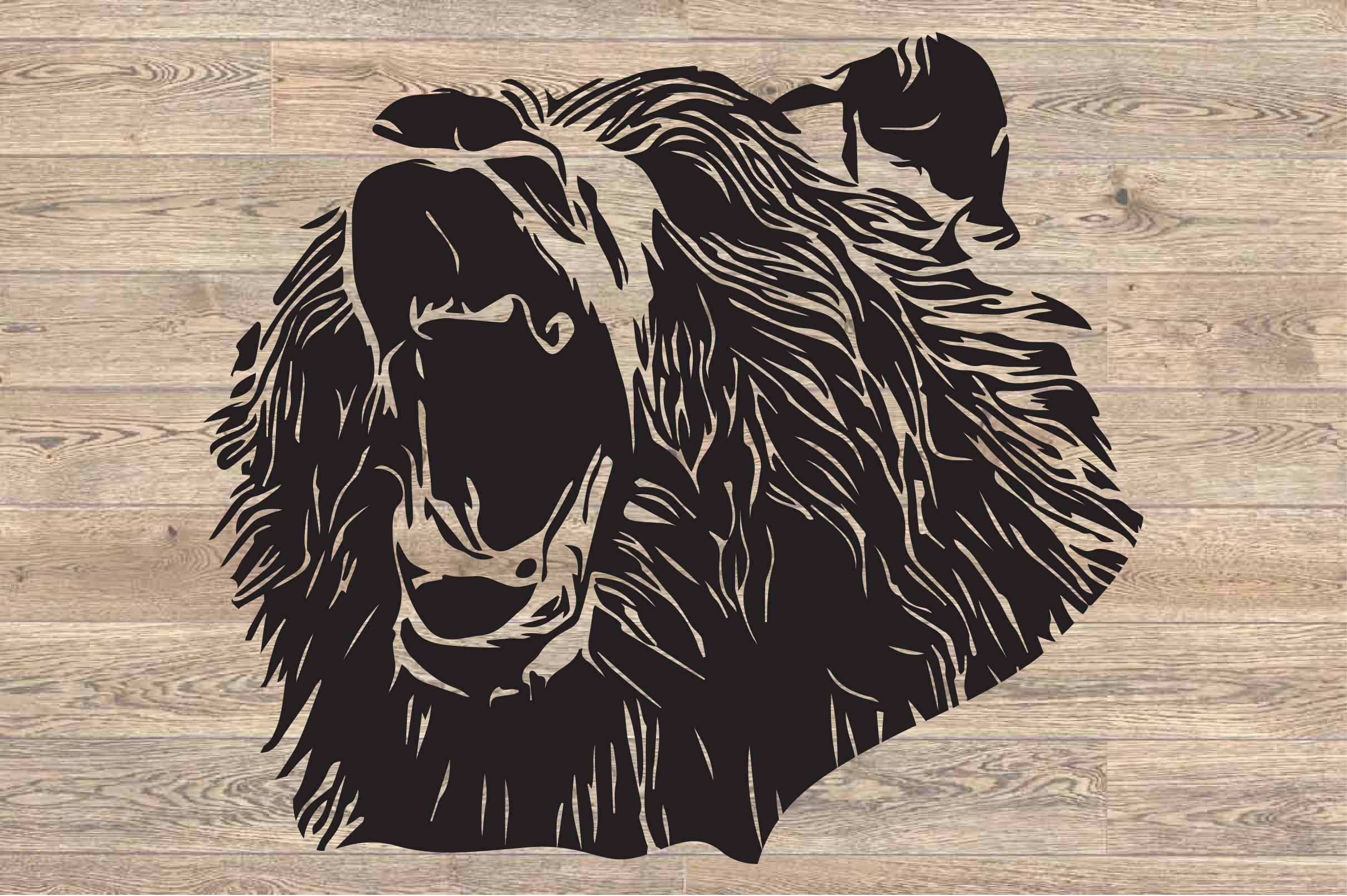 Bear SVG Cutting Files Head face mama dad 1632s example image 2