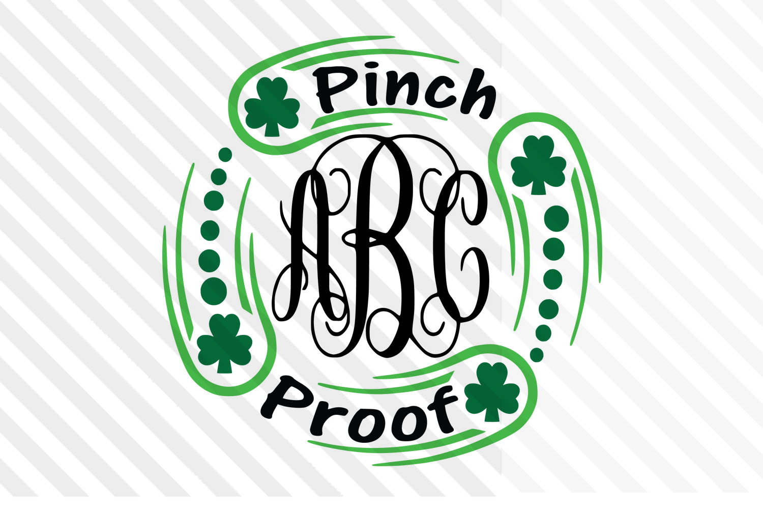 Monogram ,St.Patrick day,Lucky,SVG,clipart,Font,Irish,cricut example image 1