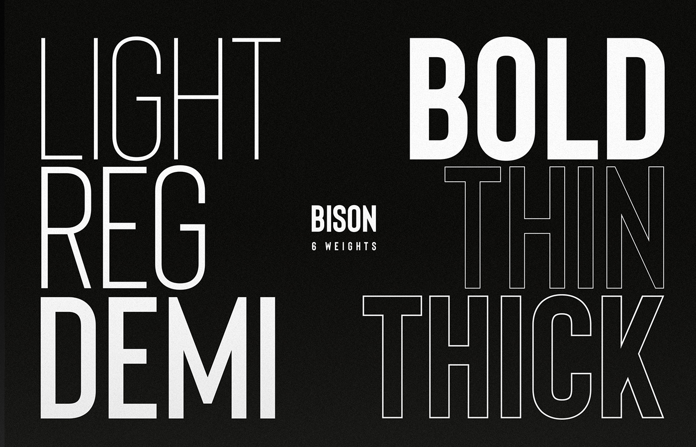 Bison - A powerful font example image 2