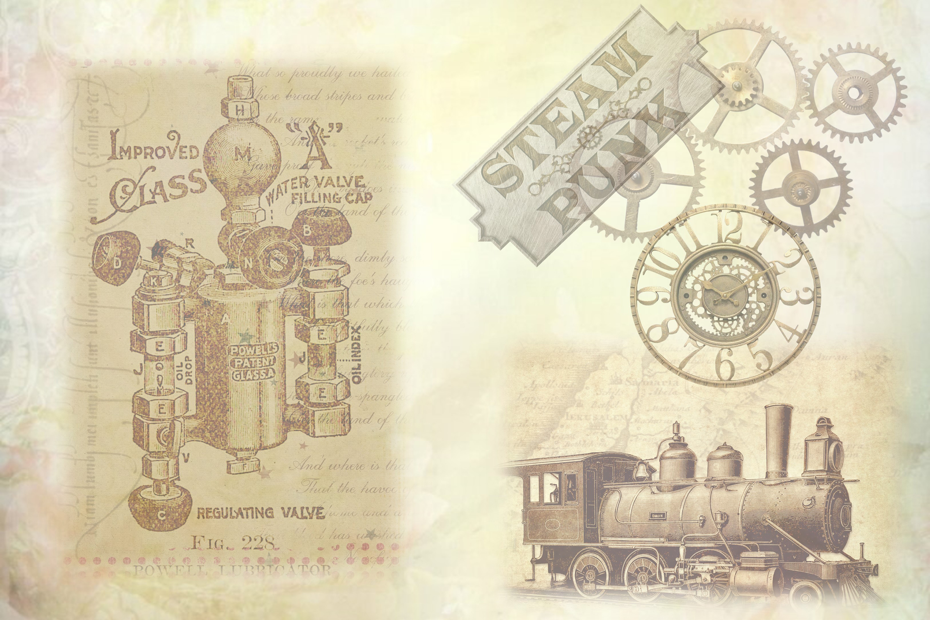SteamPunk Collage Sheets 8.5 x 11 inches. JPEG and PDF example image 4