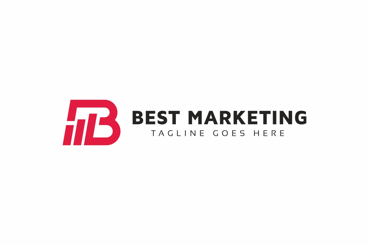 Best Marketing B Lettre Logo example image 3