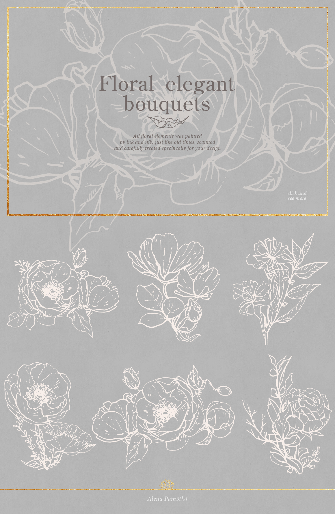 Flower outlines & patterns example image 2