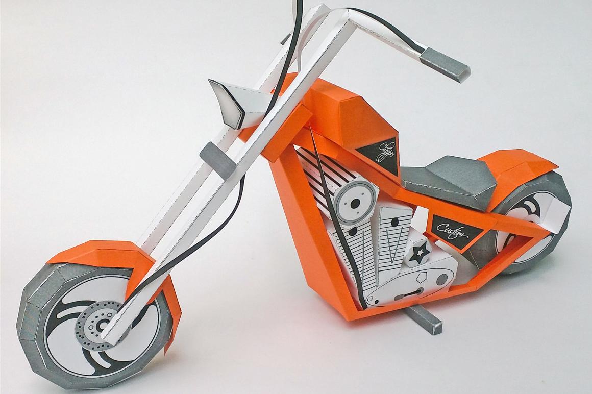 DIY Paper bike - 3d papercraft example image 4