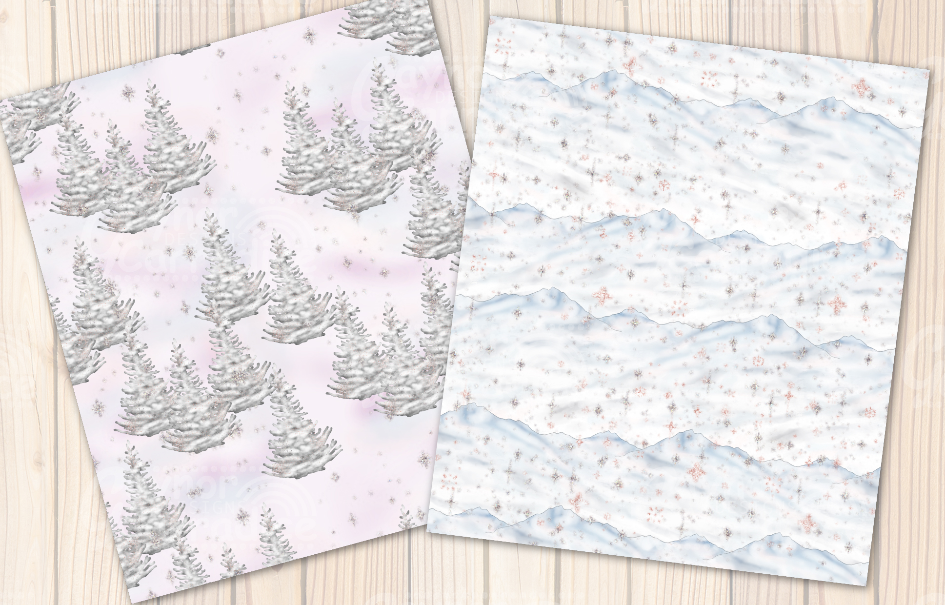 Winter fairy Tale Seamless Pattern collection example image 6