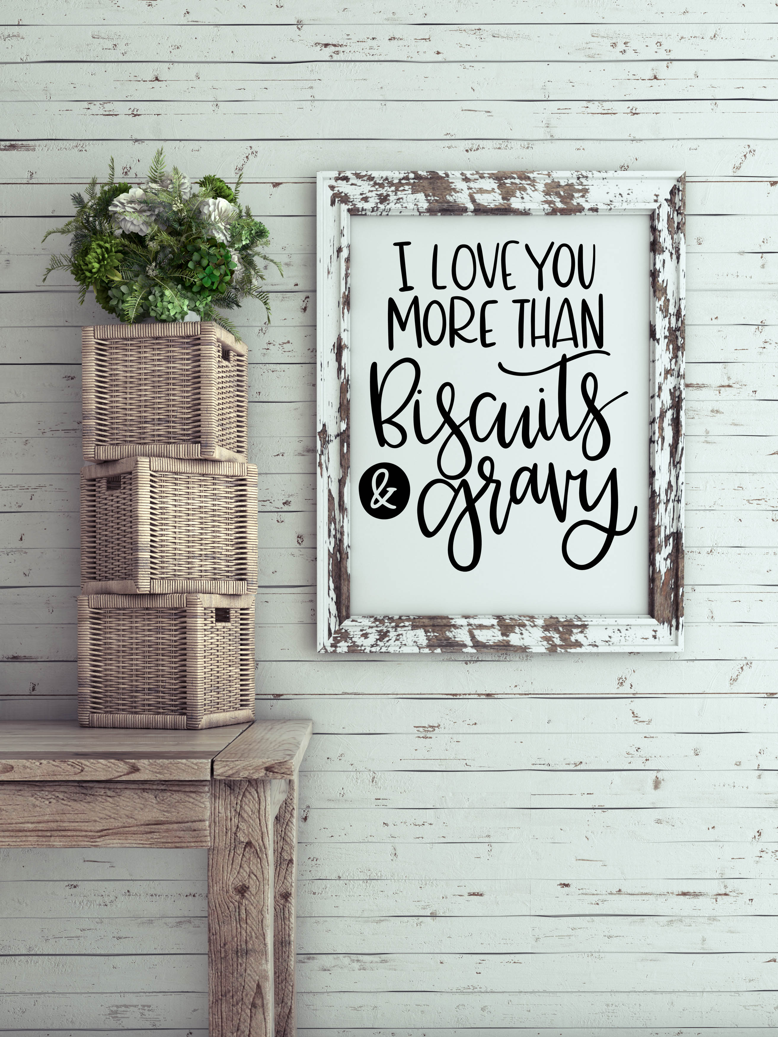 I Love You More Than Biscuits & Gravy SVG example image 1