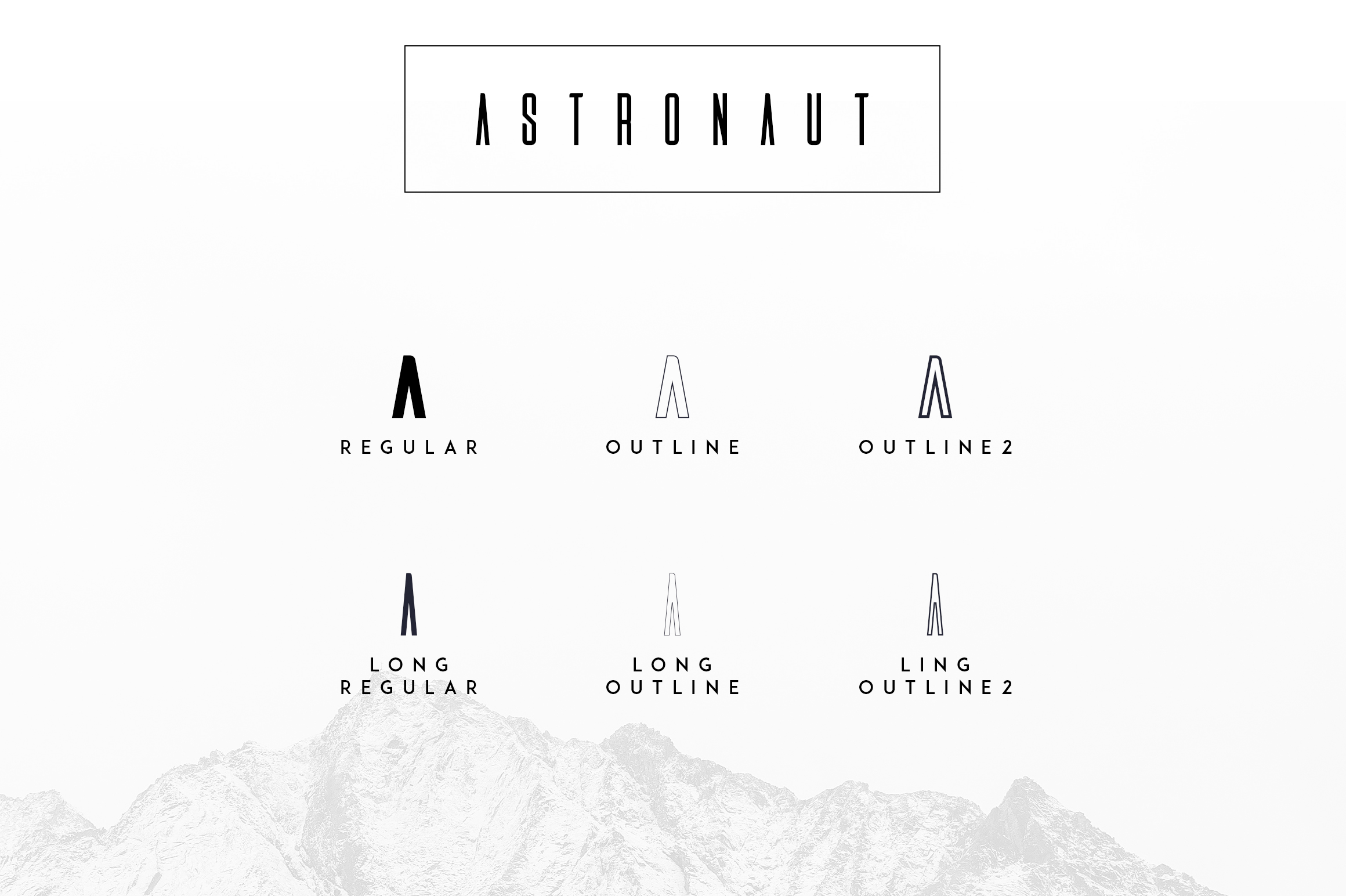 Astronaut Typeface - 6 fonts example image 2