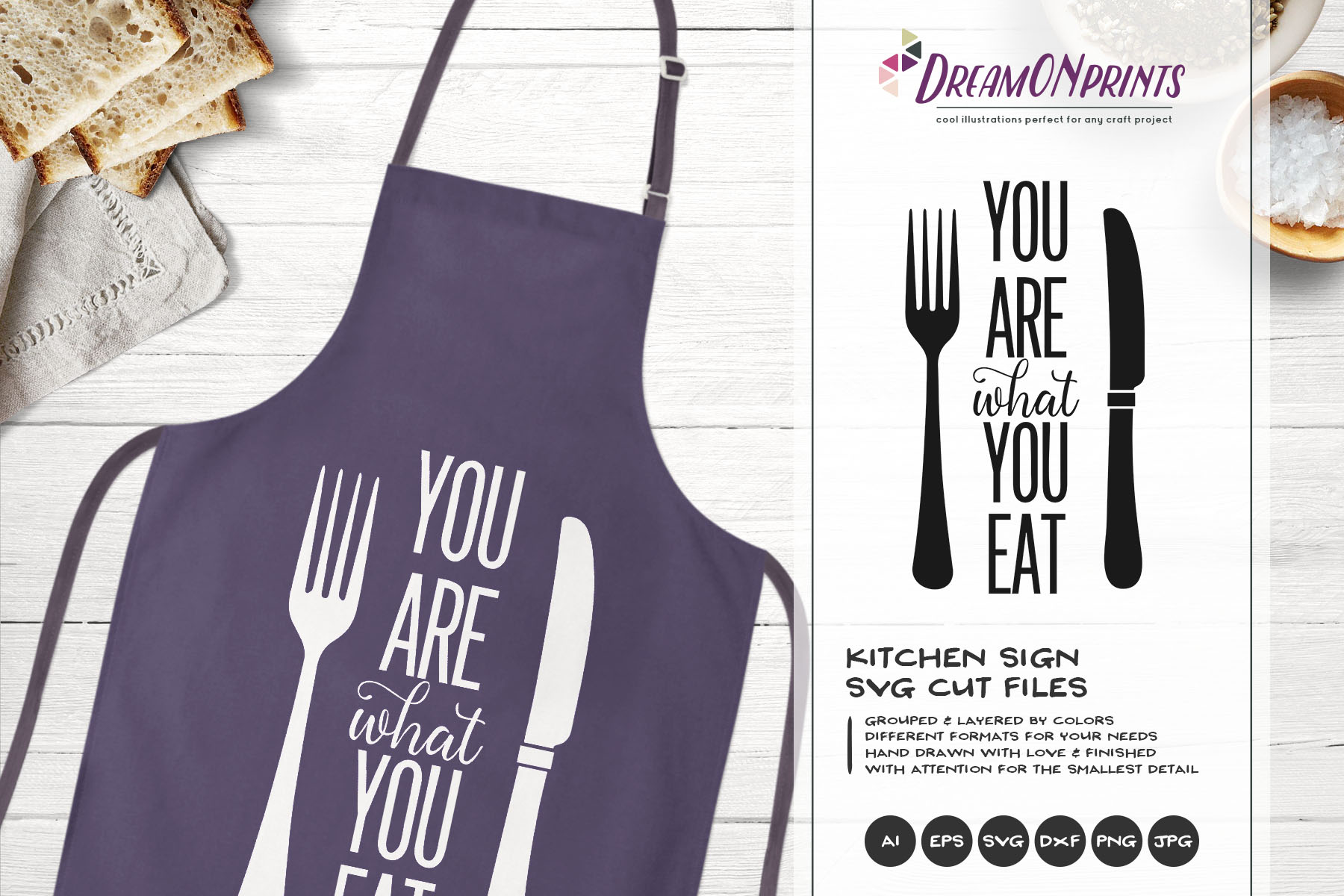 You Are what You Eat SVG - Fun Kitchen SVG Cut Files example image 1
