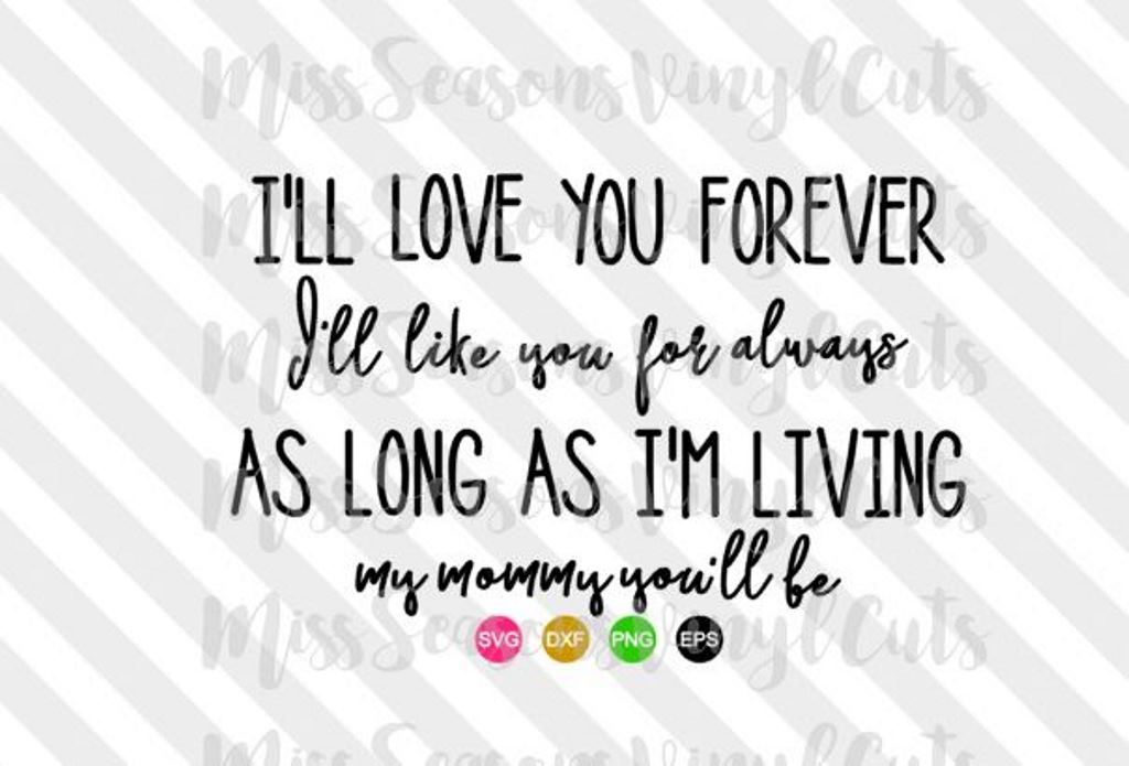 Ill Love you for Always SVG  example image 1