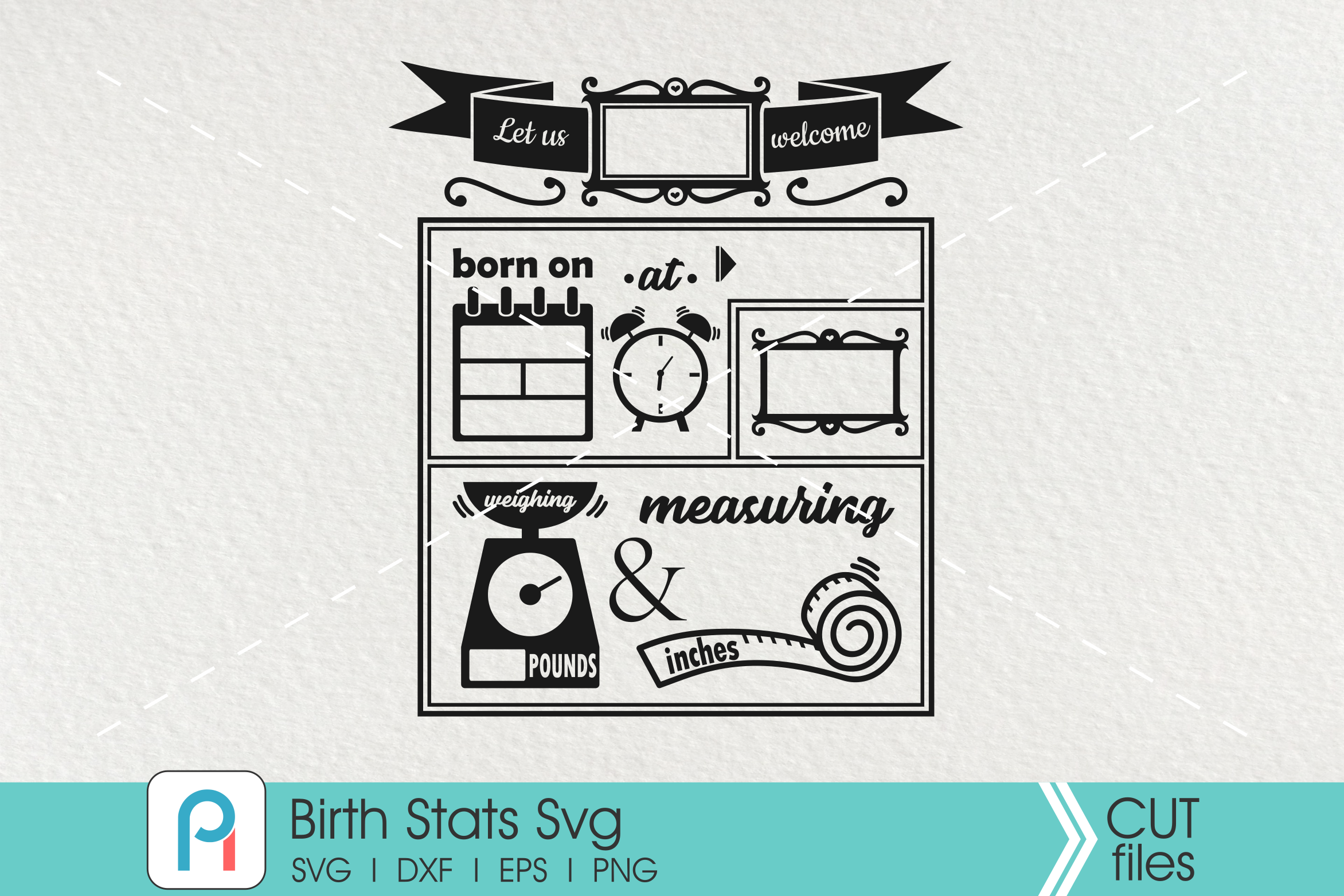 birth stats svg, birth stats template, baby stats svg example image 2