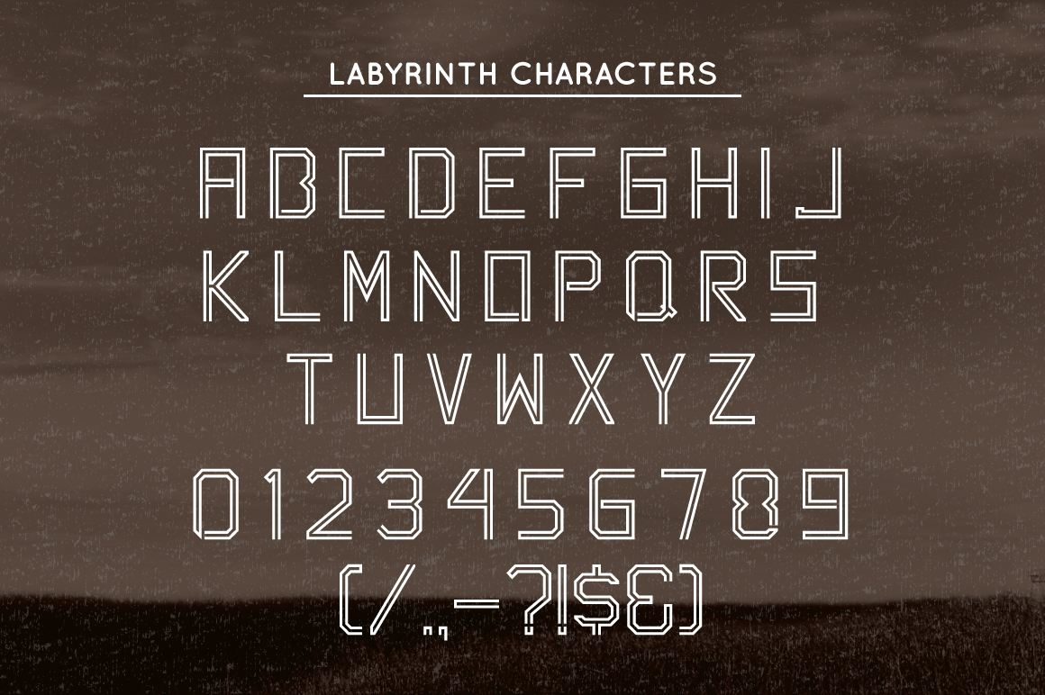 Labyrinth Typeface example image 5