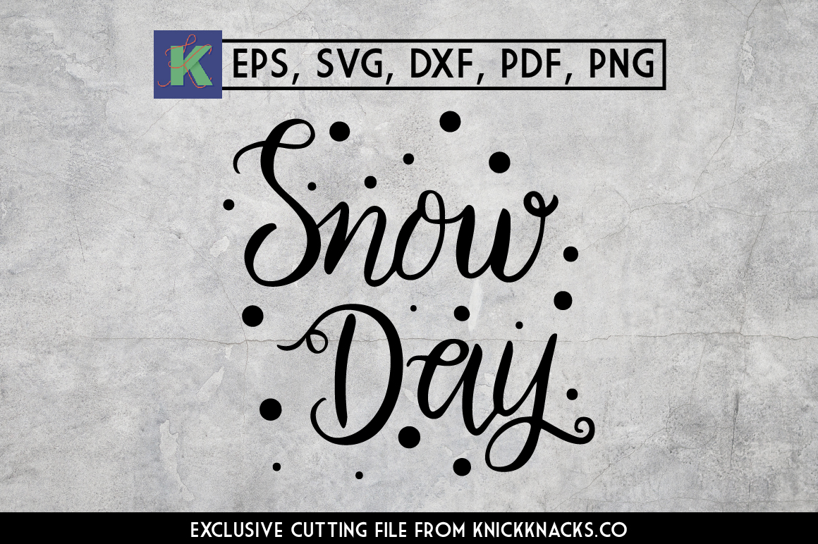 Winter Lettering: Snow Day example image 1