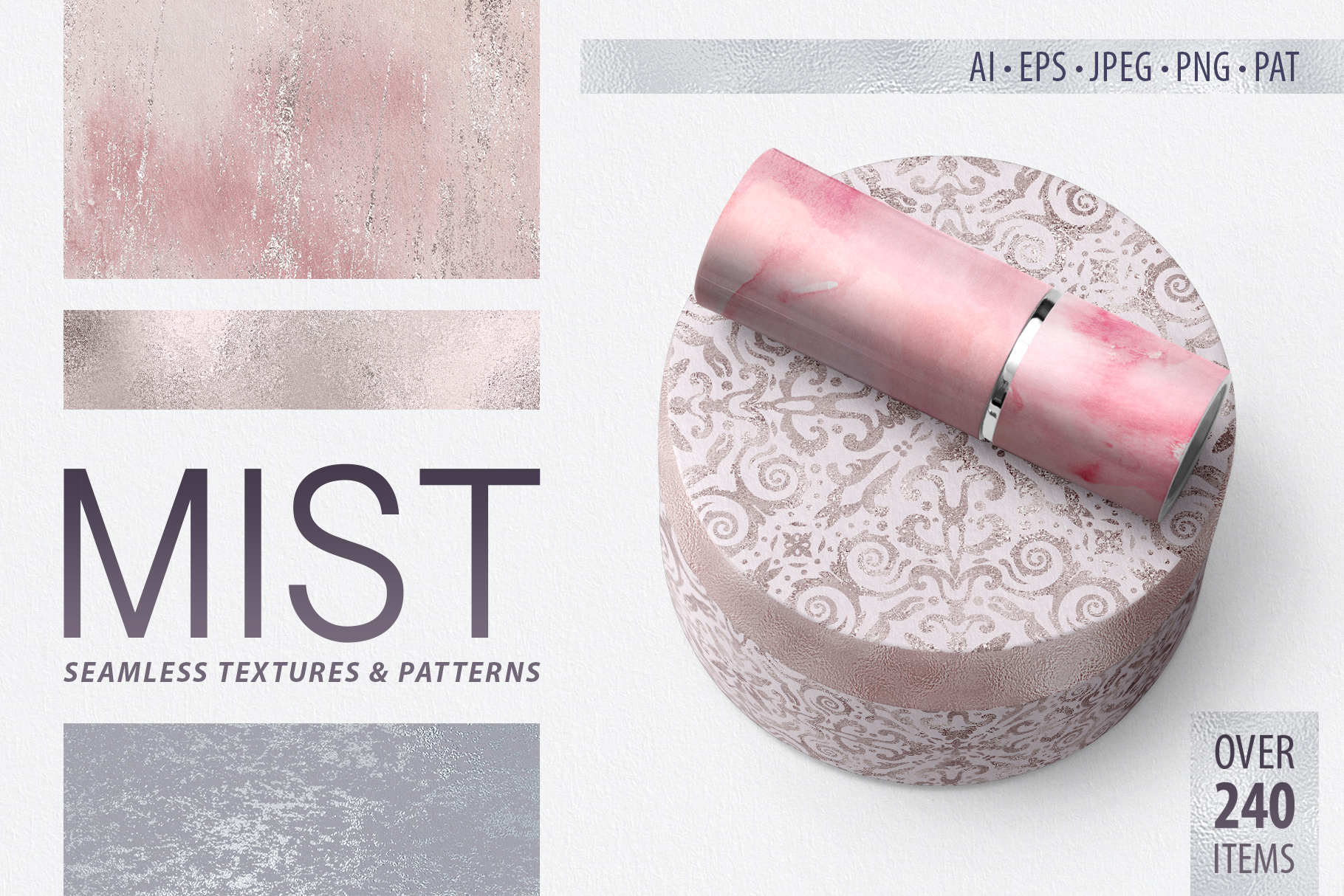Seamless Textures & Patterns Bundle - Shabby Chic Design Kit example image 1