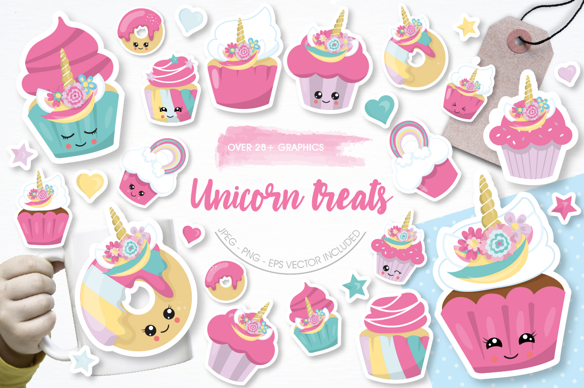 Unicorn Treats graphics and illustrations example image 1