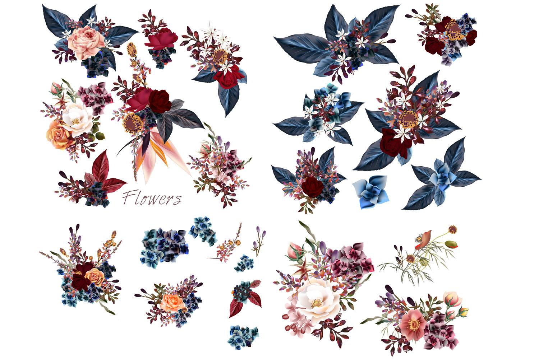 Mega vector floral set example image 4