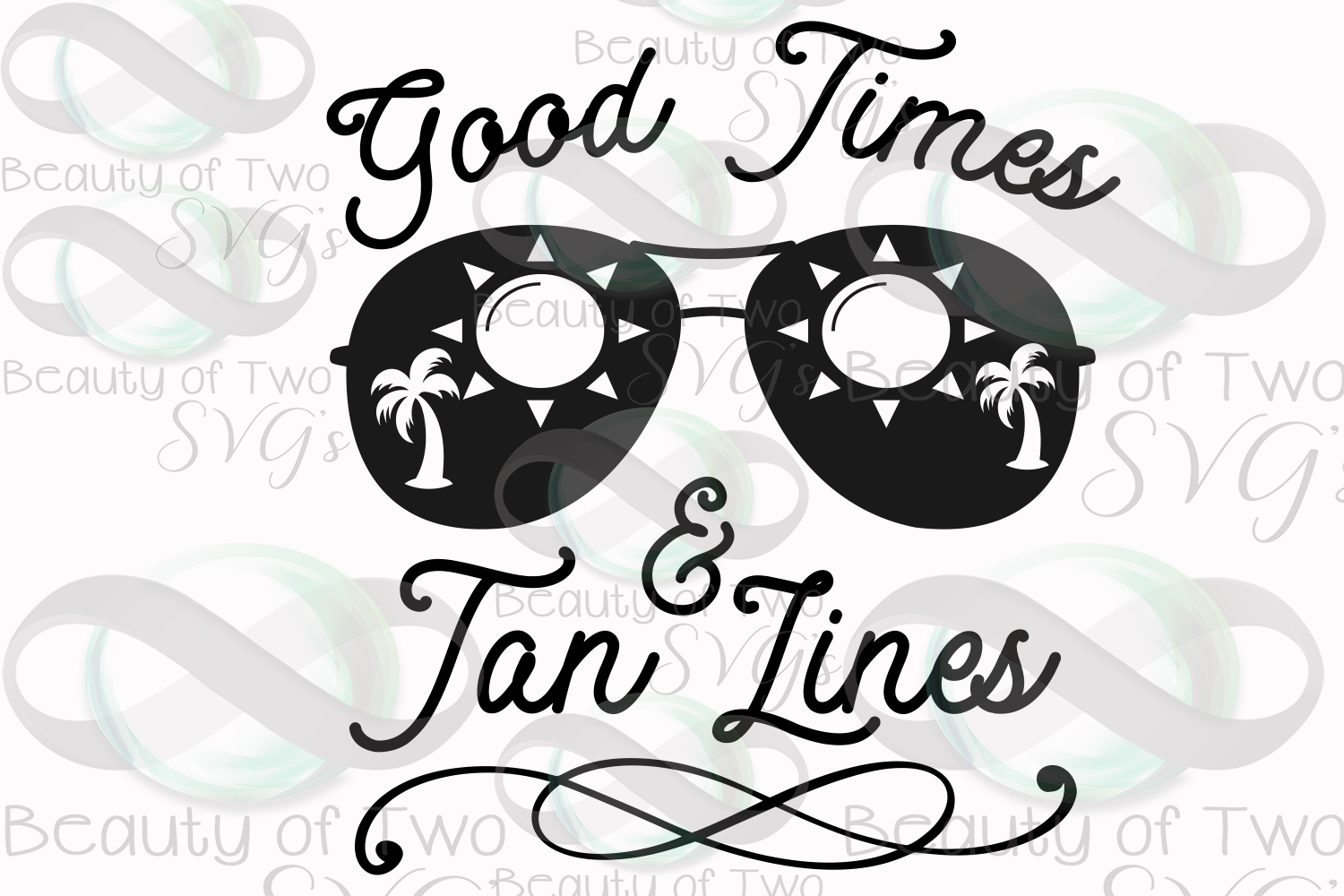 Sunglasses svg, Good Times and Tan Lines retro svg and png example image 3