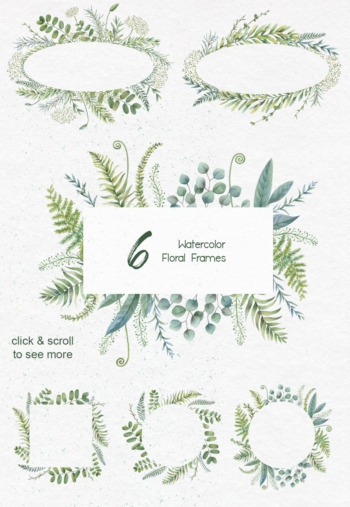 Watercolor herbs. Clipart collection example image 3