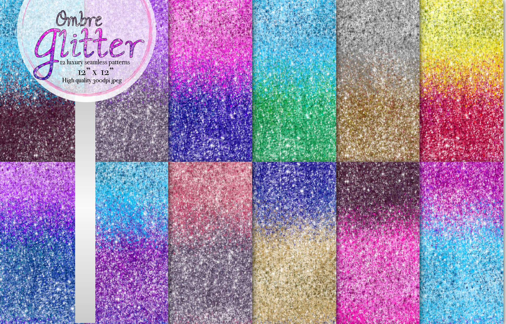 Ombre glitter collection example image 1