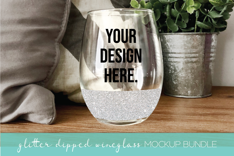 Mockup Bundle - Wineglass - Wood Sign - Pillow PSD JPG example image 5