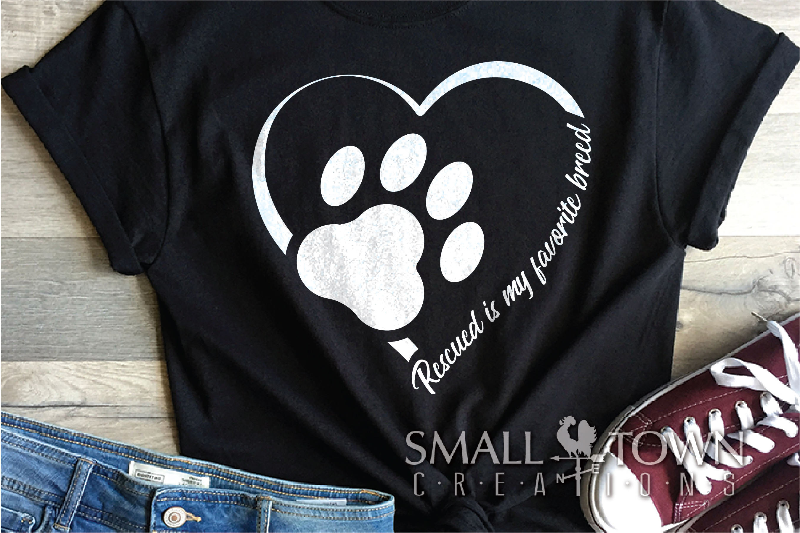 Rescued Dog, Adopted Dog, Dog breed, PRINT, CUT & DESIGN example image 1