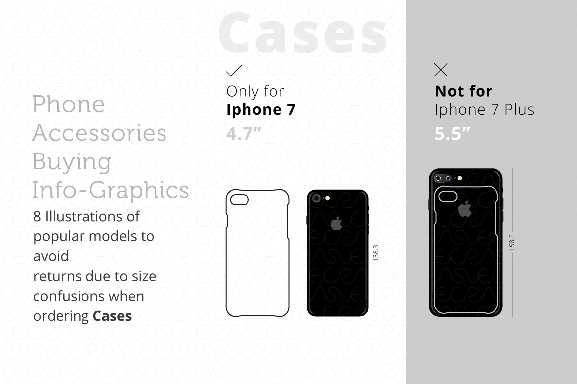 Phone Accessories Customer Guide Info-Graphics Illustrations example image 2