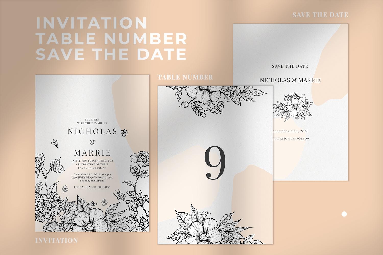 Classy Botanical Wedding Suite example image 2