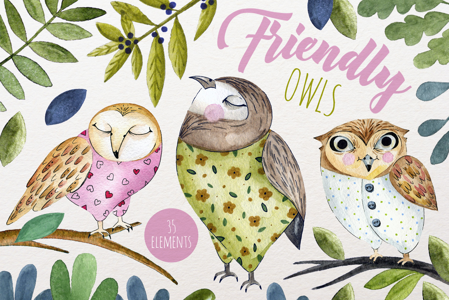 Friendly Owls example image 2