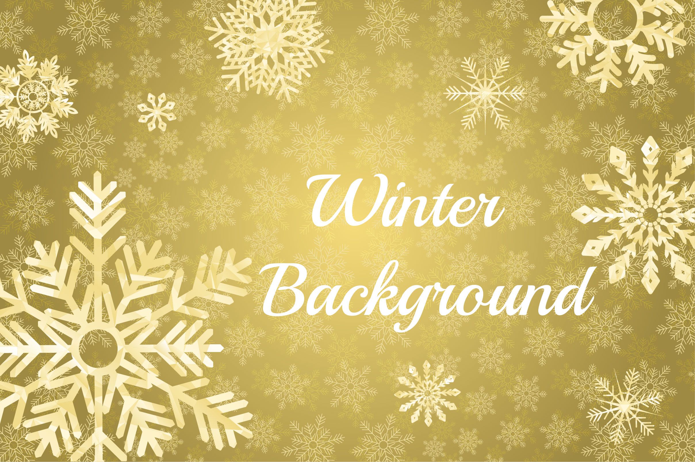 Winter Golden Backgrounds example image 3