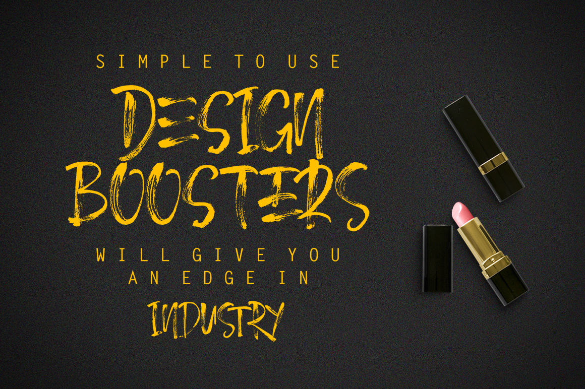 December Brush Font example image 3